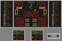 Scoreboard multisport pro + kit24 (following the new FIBA rules)